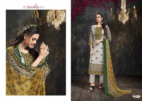 Bipson Khwaab  Cotton Slub Printed Straight Suits Collection