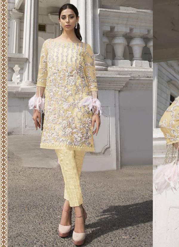 Fepic Rosemeen Organza Net Santoon Embroidery With HandWork Eid Special Wear Pakistani Salwar Suit Collections