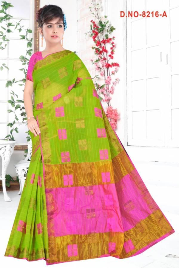 Kodas Sitka Jadoo Series 8216A-8216D Latest Cotton Designer Daily Wear Sarees Collection