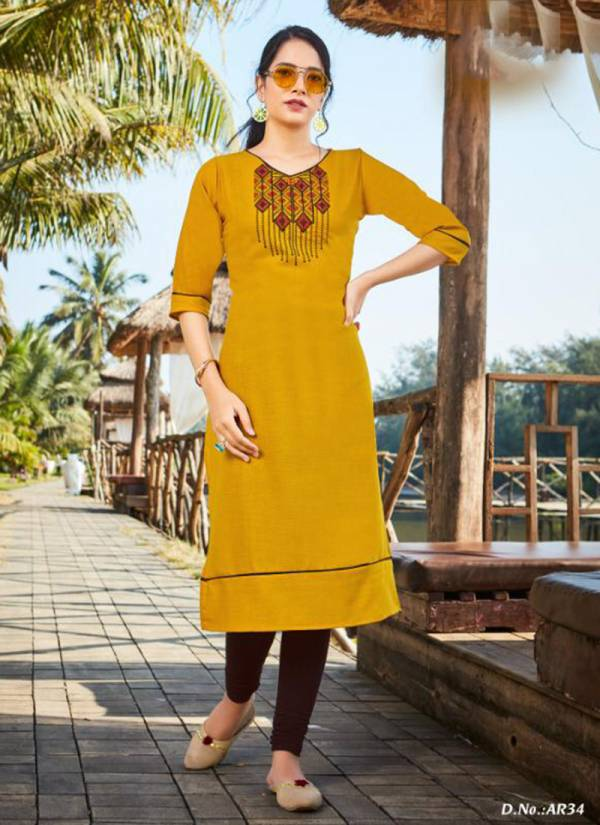 Kanika Fashion Anuroop Vol 4 Series 29-38 Ruby Silk With Embroidery Work Daily Wear New Designer Kurtis Collection