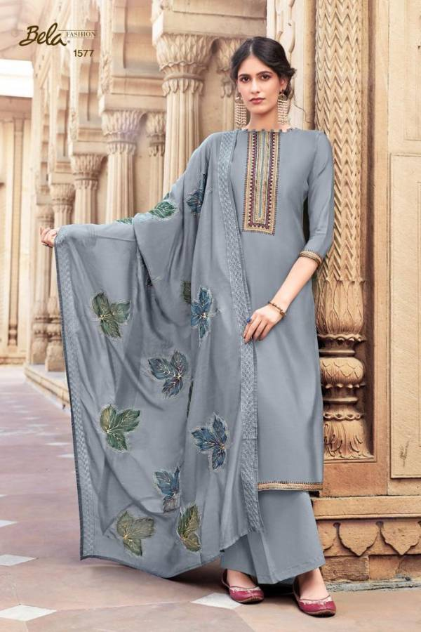 Bela Fashion Masakali Vol 4 Series 1575-1581 Cotton Silk With New Embroidery Work Designer Palazzo Suits Collection