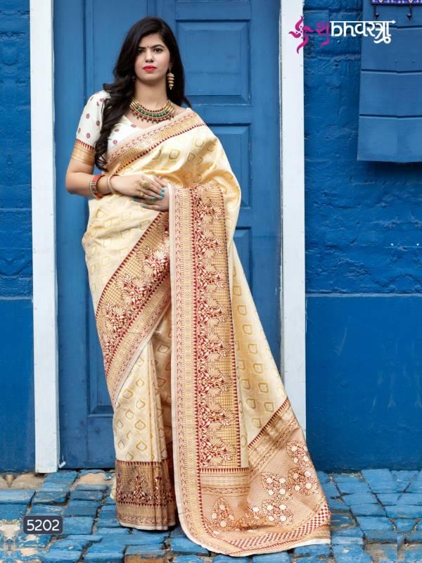 Shubh Vastra Maharani Vol 1 Series 5201-5207 Exclusive Designer Weaving Silk Festival Wear Sarees Collection