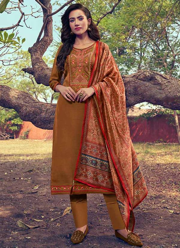 KVS Khushika AAA Series K-411 - K-416 Mini Silk With Designer Embroidery Work Salwar Suits Collection