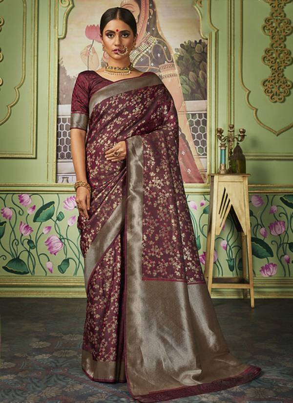 Manjolika Fashion Maitri Silk Series 2701-2706 Banarasi Silk New Designer Wedding Wear Sarees Collection