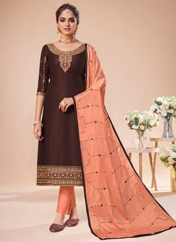 Gulkayra Designer Rehana Jam Silk With Heavy Embroidery Work Festival Wear Churidar Suits Collection
