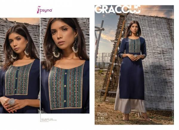 Psyna Paris Vol 2 Rayon With Work Regular Wear Kurtis Collection