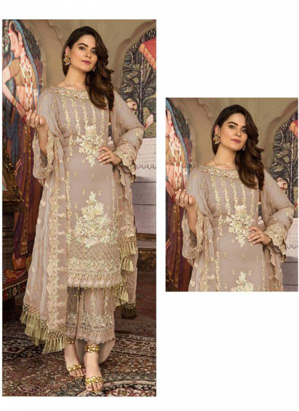 Khayyira Blockbuster Georgette Heavy Embroidery Work Festival Wear Designer Pakistani Suits Collection