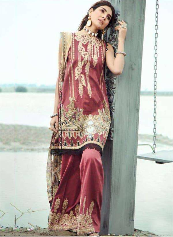 Kilruba Firdaus lawn 20 Lawn Digital Print with embroidery patch Pakistani Suits Collection