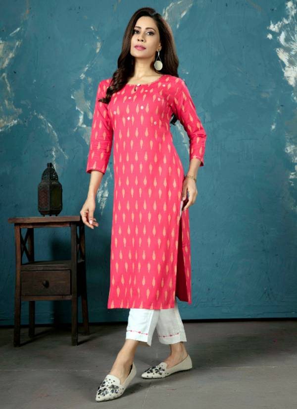 Indira Apparel's Basant Series 4401-4404 Pure Cotton Linen Embroidery Work Tops With Bottoms Collection