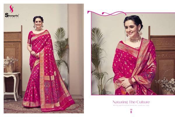 Shangrilla Silk Rich Kashmiri Weaving Wedding Sarees Collection