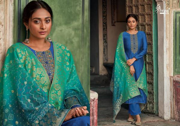 Shree Fab Diyah Vol 2 Series 1001-1008 Tussar Silk Butti With Designer Embroidery Work Party Wear Suits Collection