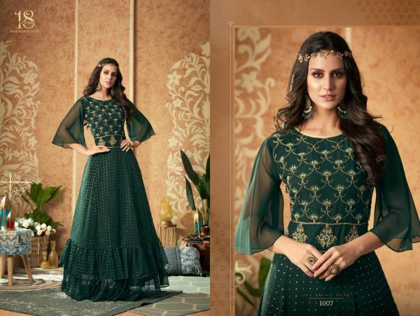 18 Attitude Dulhaniya Series 1001-1007 Georgette Silk Net Indian Traditional Party wear Gown Collection