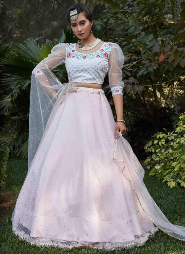 Shubhkala Bridemaid Vol 9 Series 1501-1506 Net With Metalic Foil Printed Work Party Wear Lehenga Cholis Collection