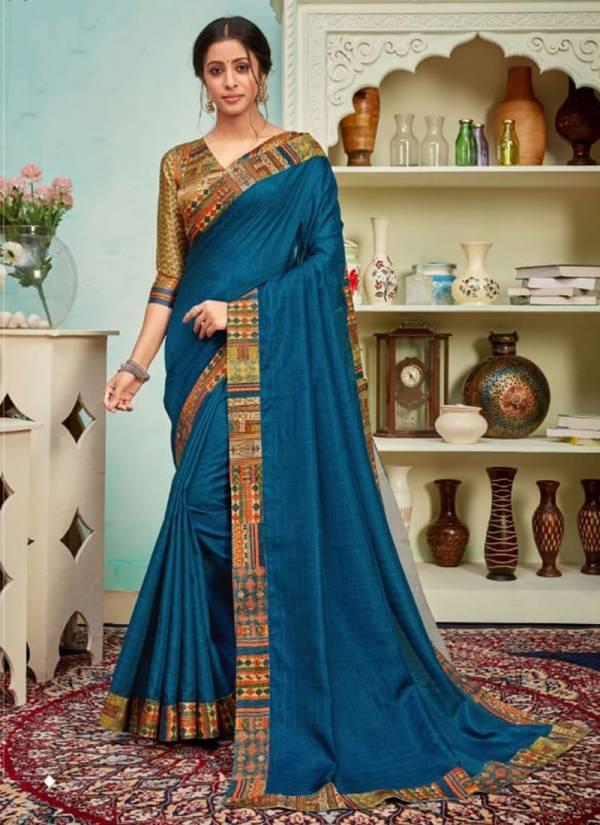 Sanjana Designer Sahiba-Shabd Series 009-020 Polyster Silk Zari Pattern With Digital Border Work Stylish Look Party Wear Sarees Collection