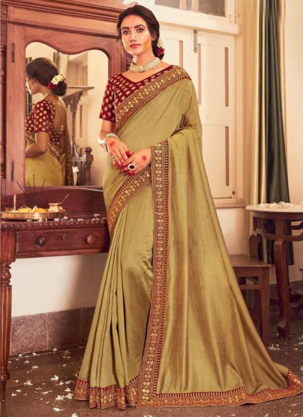 Saroj Afreen Series 11001-11008 Diwali Special Latest PC Vichitra Silk With Heavy Border Festival Wear Sarees Collection