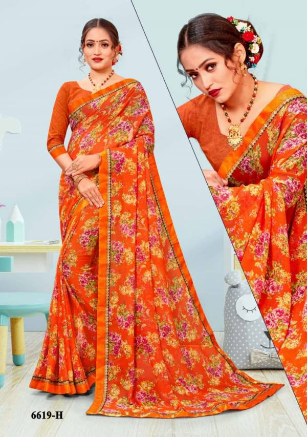 Boogie Woogie-21 Georgette Digital Printed Casual  Sarees Collection