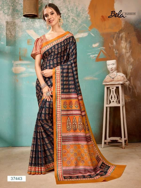 Bela Fashion Tulsi Manipuri Silk Digital Print Traditional Wear Sarees Collection