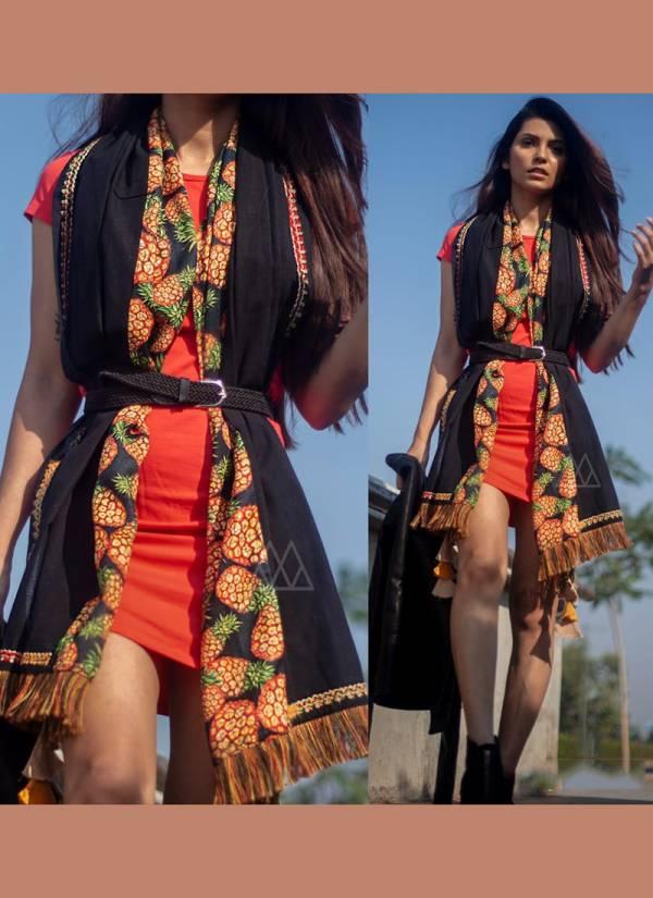Mesmora Series 9001-9009 Handloom Khadi And Poly Pashmina New Designer Vibrant Tropical Printed Stoles Collection