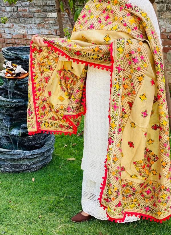 Vikash Eshan VPC Pure Cotton Sequence Kantha Embroidered Work Festival Wear Designer Salwar Suits Collection