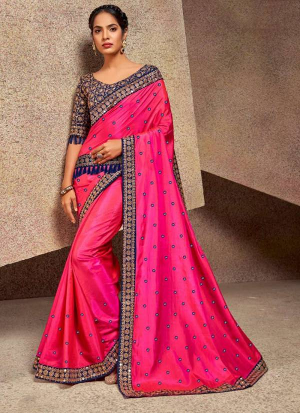Saroj Aanchal Series 159001-159006 Heavy Sana Silk Dyed Mirror Work New Designer Party Wear Sarees Collection