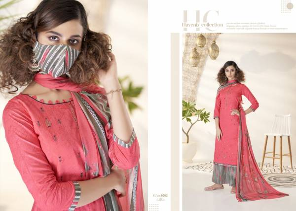 Azara The Mask Pure Lawn Cotton Prints With Fancy Coding Work Suits Collection