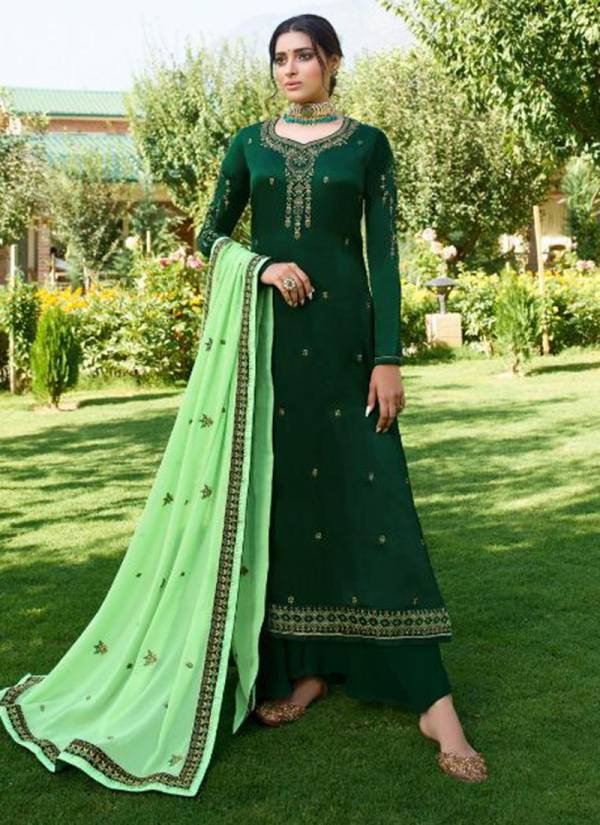 Alisa Cindrela Series 5501-5506 Satin Georgette With Heavy Embroidery Sequence Work With Additional Diamond Work Traditional Suits Collection