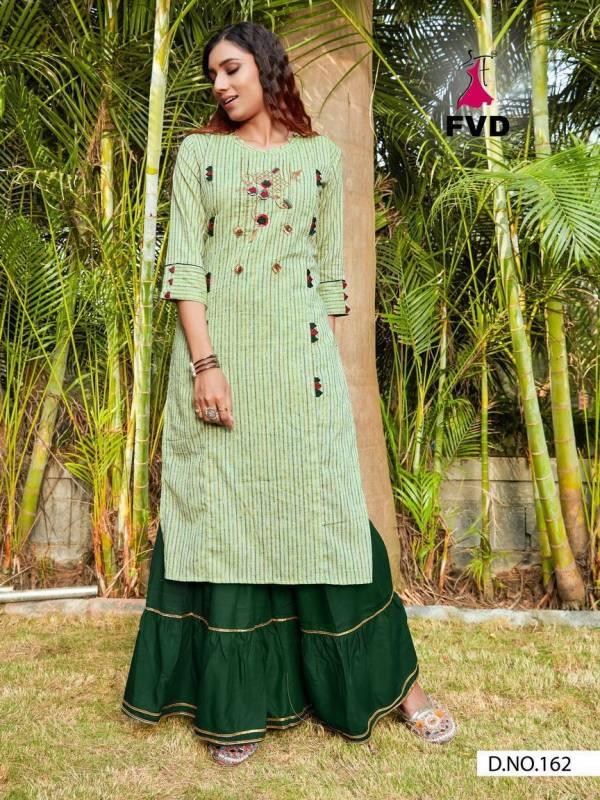 Fashion Valley Dresses City Girl Vol 2 Khadi Cotton With Khatli Hand Work Kurtis With Sharara Collection
