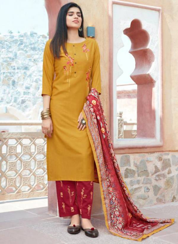 Kalki Fashion Shuddhi Series 58001-58006 Pure Chinon Silk With Full Lining Inner Designer Hand Work Top Readymade Suits Collection