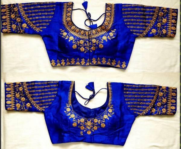 Ruhi Fashion Design 150 Phantom Silk has Florent Open Readymade Blouse Collection