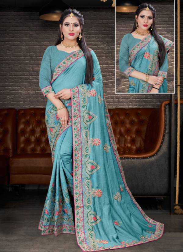 Ladys Ethnic Aarzoo Series 3521-3528 Exclusive Diwali Special Vichitra Two Tone Silk Sarees Collection