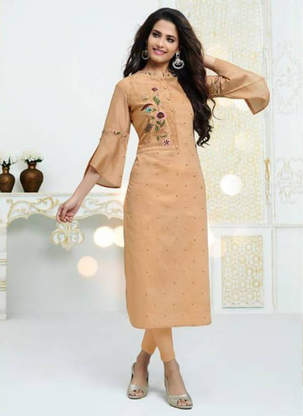 S3 Forever Gracia Series 1001-1005 Croma Silk (Viscose Base) Classy Style Hand & Embeoidery Work Kurtis Collection