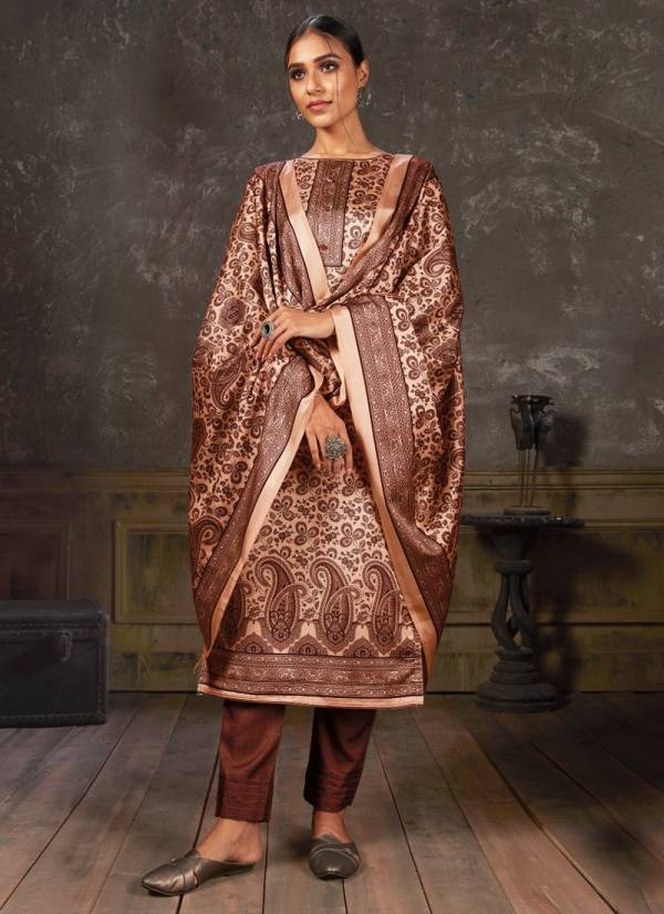 Bipson Noor Series 1066A-1066D Tussar Silk Digital Print Fancy Suits Casual Wear Collection
