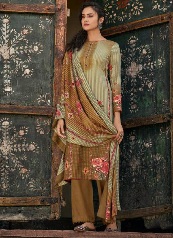 Shahnaz Arts Gulshan Vol 5 Series G4001-G4008 Heavy Pashmina Exclusive Print With Swarovski Work New Designer Casual Wear Palazzo Suits Collection