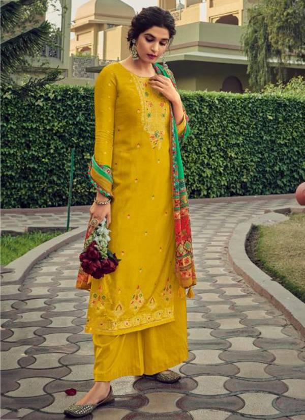 Ibiza Hunar Series 866-871 Pure Viscose Minakari Jacquard New Designer Ramazan Festival Special Palazzo Suits Collection