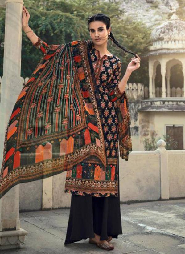 Glossy Fashion Blossom Series 27-34 Winter Special Pure Pashmina Digital Print With Hand Work Regular Wear Palazzo Suits Collection