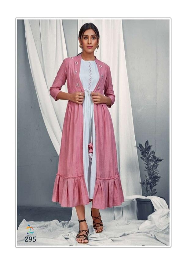 Dovi Fashion Annie Dobby Cotton  A Line Frock  Fancy Party Wear Kurti Collection