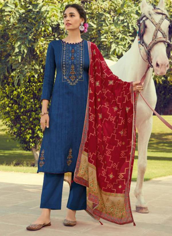 Deepsy Panghat 10 Series 70001-70008 Designer Pashmina Print With Heavy Self Embroidery Work Suits Collection