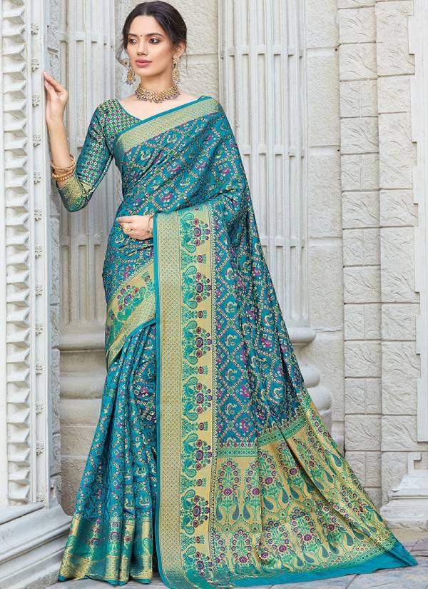 Sangam Tanchui Series 1001-1006 Patola Silk Festival Wear Diwali Special Sarees Collection