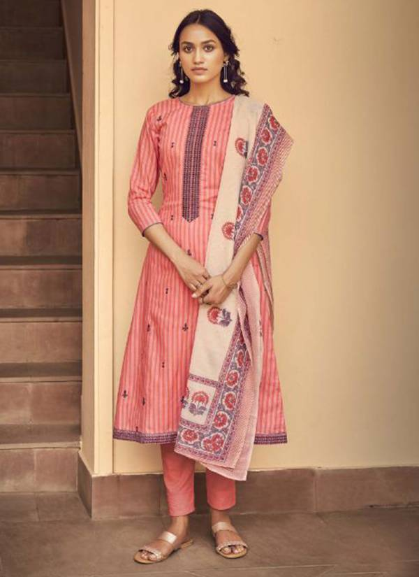 Sargam Prints Vedik Pure Cotton With Designer Embroidery Work Wedding Wear Straight Suits Collection