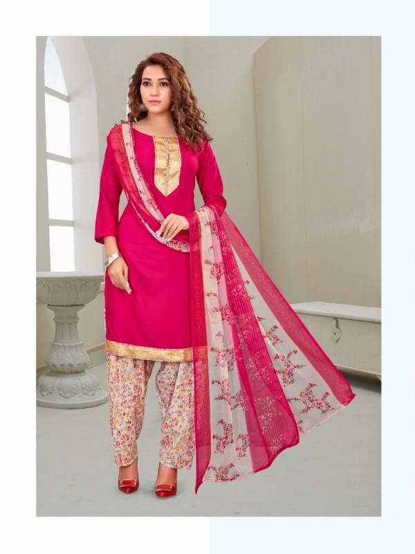 Poornima Textile Poonam Patiyala Butter Crepe Fancy Patiyala Salwar Suits Collection