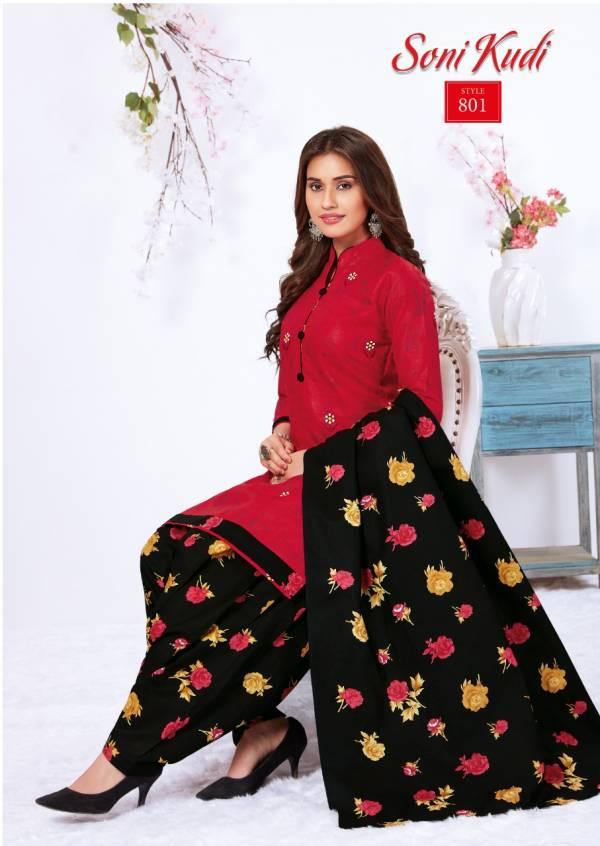 Navkar Fab Tex Sonikudi Vol 8 Series 801-812 Full Stitched Patiyala Punjabi Cotton Daily Wear Suits Collection