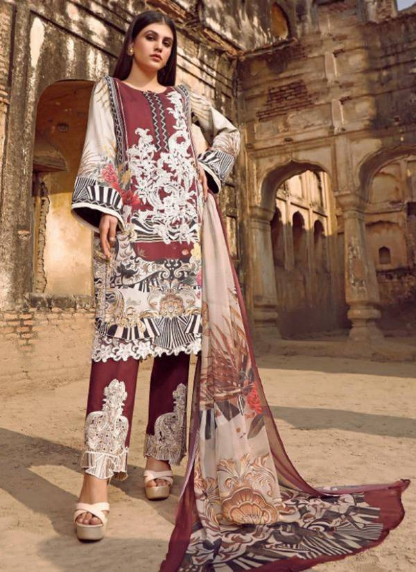 Shree Fab Firdous Premium Collection Vol 2 Series 1514-1520 Pure Jam Cotton Exclusive Embroidery Work Pakistani Suits Collection