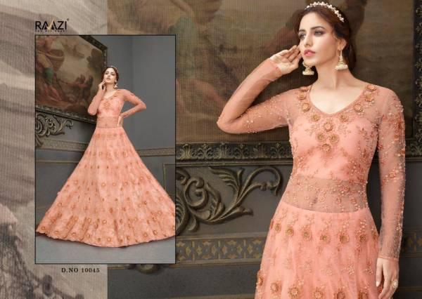 Raama Fashion Raazi Aroos Soft Net Embroidery Work Wedding Wear Designer Anarkali Suit Collection
