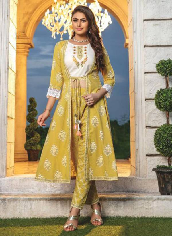 Kiana Fashion Grandeur Series GRANDEUR001-GRANDEUR006 Chanderi Silk With Fancy Look Embroidery & Hand Work 3PC Top,Jacket & Pant Collection