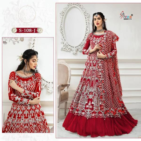 Shree Fab Series S-108 - S-108K Butterfly Net With Heavy Embroidery Work Wedding Wear Pakistani Suits Collection
