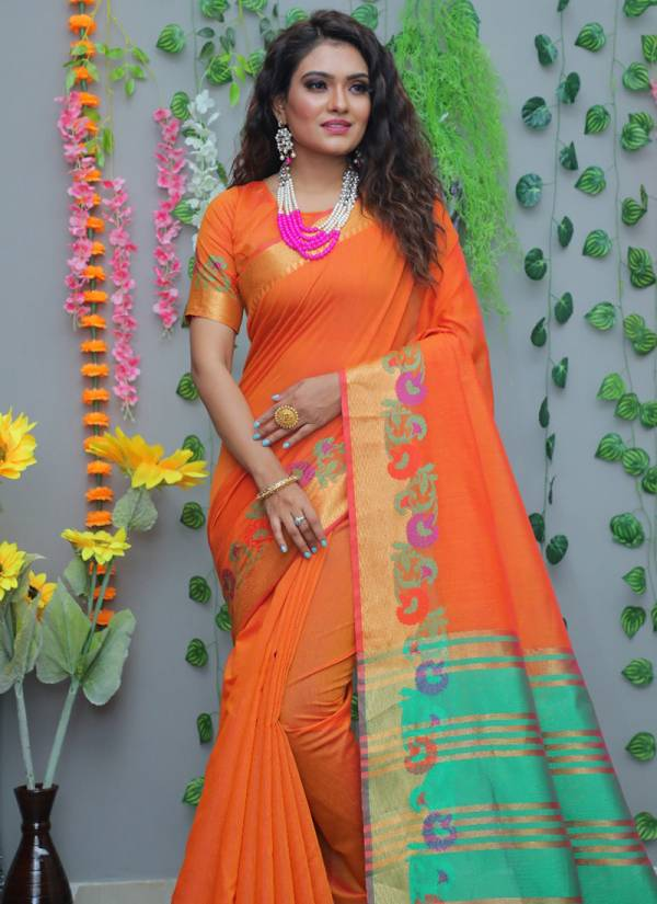 Beautiful Angel Vol 1 Pure Cotton Attractive Wedding Wear Silk Saree Collection