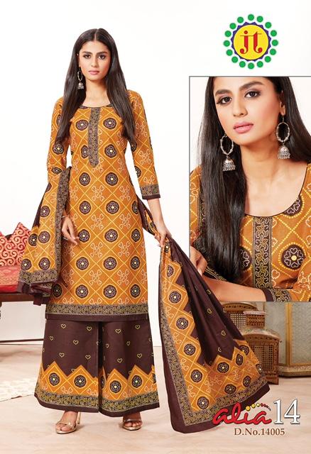 JT Cotton Alia Vol-14 Cotton Bandhani Printed Designer Look Salwar Suit Collection