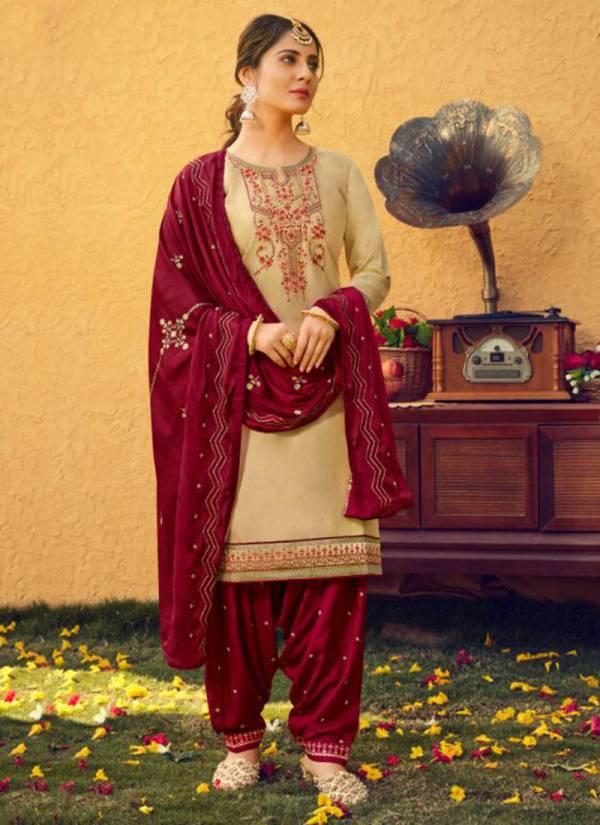 Kajree Fashion Patiyala Vol-30 Series 12327-12336 Jam Silk Rayon Cotton With Inner Fancy Work Party Wear Readymade Patiyala Salwar Suit Collections