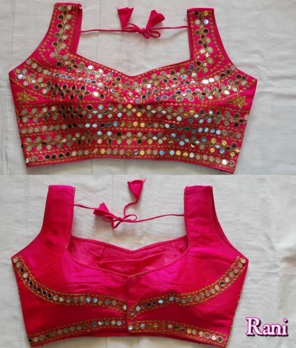 Ruhi Fashion Series 501-508 Heavy Phantom Silk With Heavy Thread Zari With Mirror Sequence Work Readymade Blouse Collection