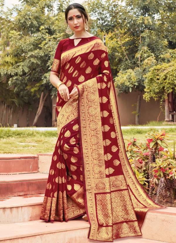 Sangam Prints Manorama Cotton Digital Embroidery Work Wedding Wear  Designer sarees Collection